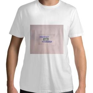 "Believe S'eries ""Bravely"" Men's Cotton T-shirt"