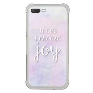 [iPhone 7 Plus Transparent Bumper Case] Today I choose joy