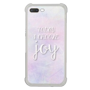 [iPhone 7 Plus Transparent Bumper Case] Today I choose joy