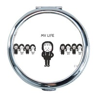 my life Round Compact Mirror (Small)