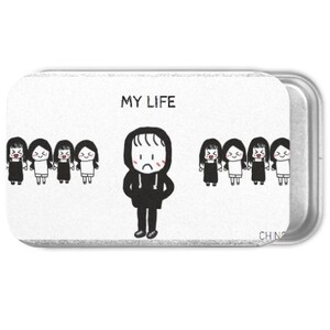 my life Metal Slide Top Tin