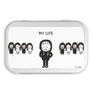 my life Metal Hinge Top Tin(Medium)