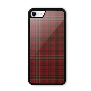 iPhone 8 Bumper Case//red checked pattern
