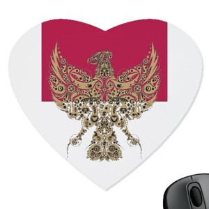 Heart Shaped Mouse Pad