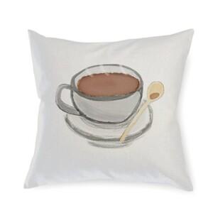 Coffee Linen Pillow