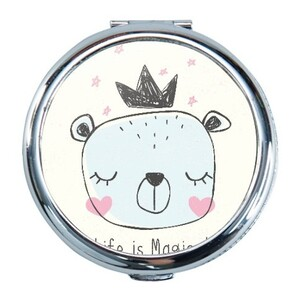 Bear Round Compact Mirror (Small)