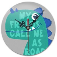 Dinosaur Round Wall Clock