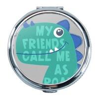 Dinosaur Round Compact Mirror (Small)