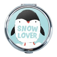 Penguin Round Compact Mirror (Small)