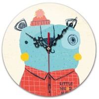 Bear Round Wall Clock