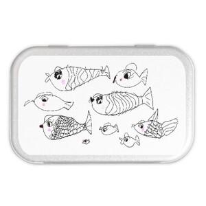 fish Metal Hinge Top Tin(Medium)