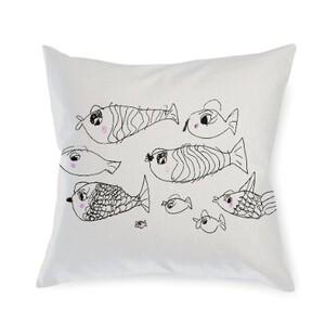fish Linen Pillow 16