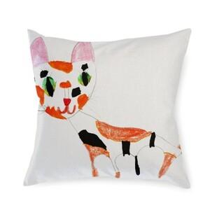 cat Linen Pillow 16
