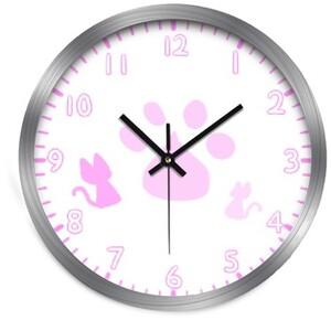 Cat clock (pink)