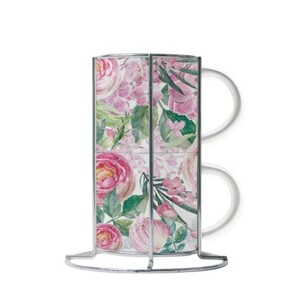 ROSE Cup Set with Metal Stand (2 Cups)