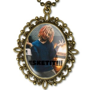 LIL PUMP RETRO NECKLACE ESKETIT!!! fools gold