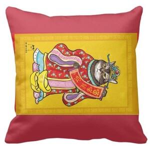 貓財神抱枕 cat Rectangle Framed Throw Pillow 16
