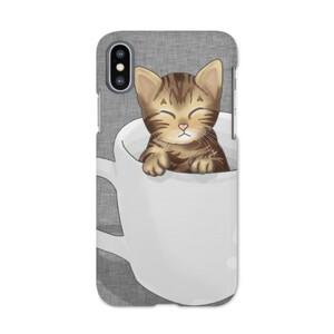 瞇瞇眼懶惰貓馬克杯iPhone X手機殼  iPhone X Matt Case