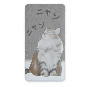 瞇瞇眼雪地裡的貓 10000mah 行動電源  10000mah Imitation Leather Power Bank