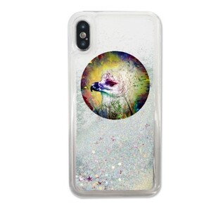 鳥鳥 iPhone X Liquid Glitter Case