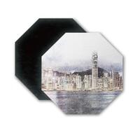 SketchHongKong_Victoria Harbour Octagon Magnet