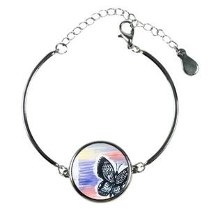 Butterfly & Rose Bracelet