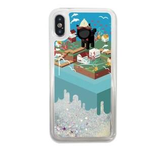 Booboo-the cola cat iPhone X Liquid Glitter Case