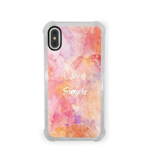 Water Color iPhone X Transparent Bumper Case