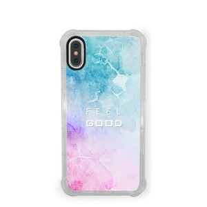 Water Color iPhone X Transparent Bumper Case