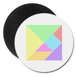 經典七巧板杯墊 Tangram(Classic) Round Rubber Coaster