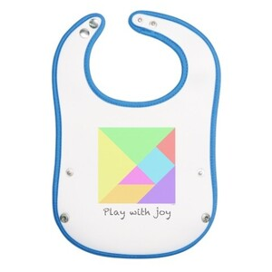 經典七巧板BB口水巾 Tangram(Classic) Baby Pocket Bib
