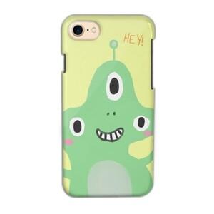 iPhone 7 Glossy Cute Alien Case