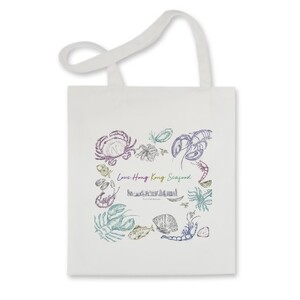 Travel with Seafood Tote Bag