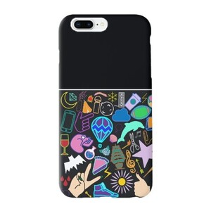 Random Print iPhone 8 Plus TPU Dual Layer Protective Case