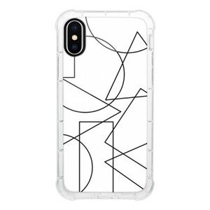 Shapes iPhone X Transparent Bumper Case