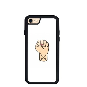 Tattooed Fist iPhone 8 TPU Dual Layer  Bumper Case