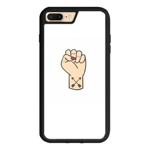 Tattooed Fist iPhone 8 Plus TPU Dual Layer  Bumper Case