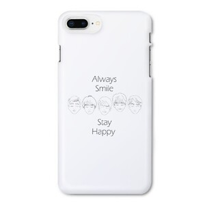 5 BOYS & Slogan iPhone 8 Plus Glossy Case