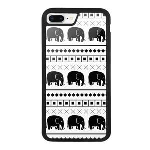Elephant Tribal Print iPhone 8 Plus Bumper Case