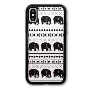Elephant Tribal Print iPhone X TPU Dual Layer  Bumper Case