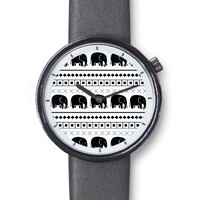 Elephant Tribal Print Classic Watch