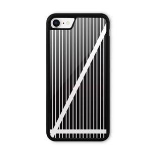 B&W Stripes iPhone 8 Bumper Case
