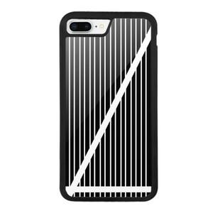 B&W Stripes iPhone 8 Plus Bumper Case