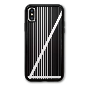 B&W Stripes iPhone X TPU Dual Layer  Bumper Case