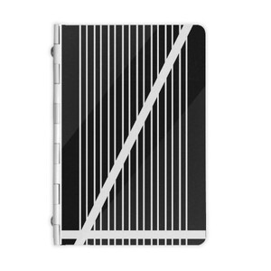 B&W Stripes Metal Notebook