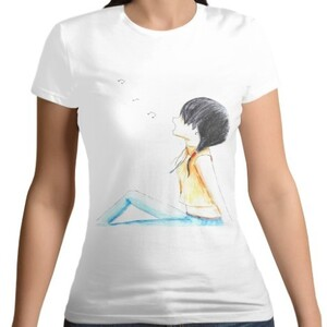 Girl under the moon T - shirt