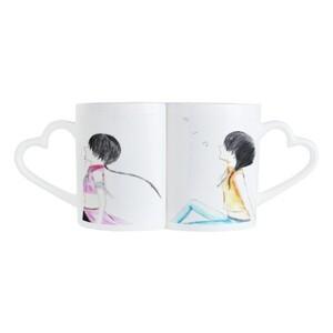 girl under the moon Pair Mug Set