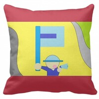 """The letter P Pillow 16""""x16"""""""