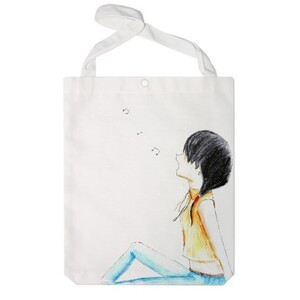 Girl under the moon Jumbo Tote Bag