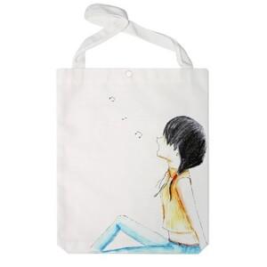 Girl under the moon Jumbo Tote Bag